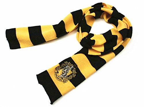 Harry Potter Vouge Gryffindor House Cosplay Knit Wool Warm Costume Scarf Wrap (Black&Yellow Hufflepuff) Fancy Wool Scarves
