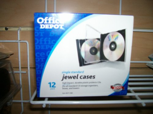 Office Depot(R) CD Jewel Cases, Clear, Pack Of 12 (Jewel Super Case Slim)