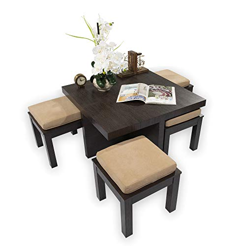 Silk Road Concepts SR-CT500 Coffee table, Beige (Stools With Table Coffee Nesting)
