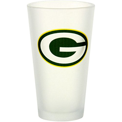Frosted Pint Glass (Green Bay Packers Frosted Pint Glass NFL Official Football)