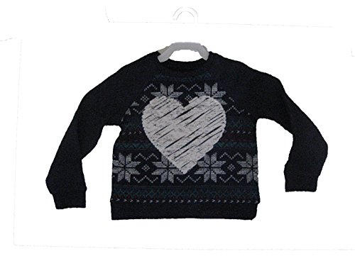 (Arizona Jean Co. (JCP) Navy Blue Sweatshirt with White Sparkle Heart - 4T)