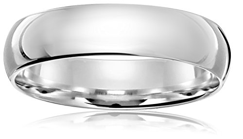 Light Comfort Fit 14K White Gold Band, 5mm, Size 9