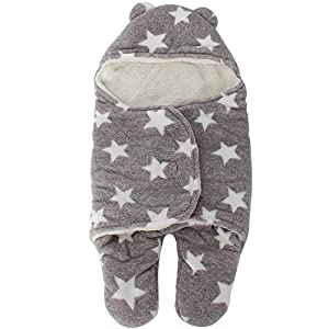 RubyShopUU Baby Swaddle Wrap Blanket Envelope for Newborns Winter Warm Sleeping Bag in The Stroller Diaper Cocoon for Kids Discharge