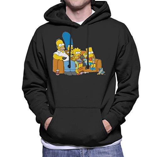 The Simpsons Movie Time Men's Hooded Sweatshirt Black (Marge Simpson Sweatshirt)