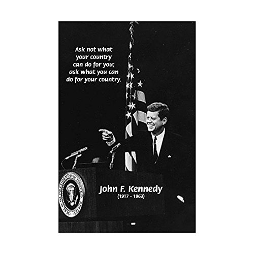 CafePress - Famous Quote From Jfk - Mini Poster Print