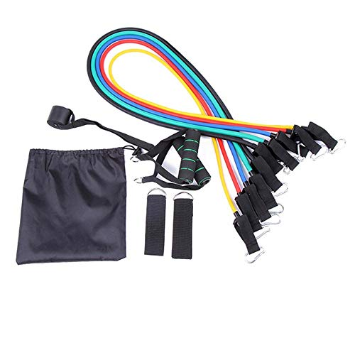 Resistance Bands 11 Pcs/Set,Exercise Workout Loops Include 5