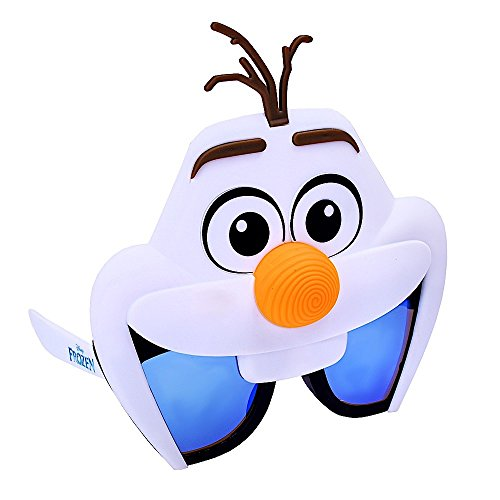 Costume Sunglasses Frozen Olaf Sun-Staches Party Favors UV400 ()