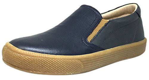 Old Soles Boy's 1029 Dress Hoff Leather Distressed Navy Loafers Shoe 27 M EU/10 M US (Distressed Leather Kids Shoes)
