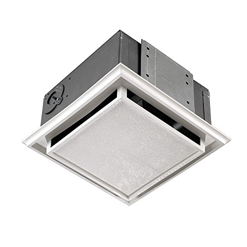 Broan Duct-Free Ventilation Fan, White Square Ceiling or Wall Exhaust Fan with Plastic Grille