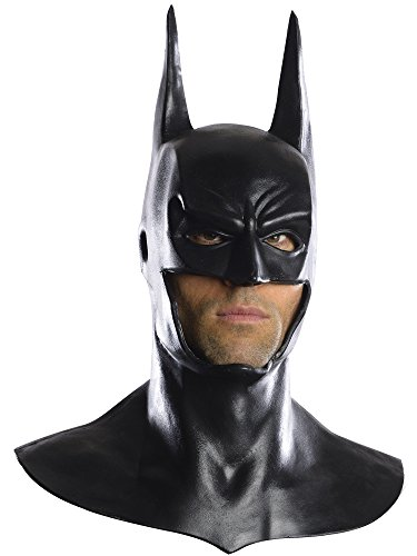 (Rubie's Men's Arkham City Deluxe Batman Cowl Mask, Black, One)