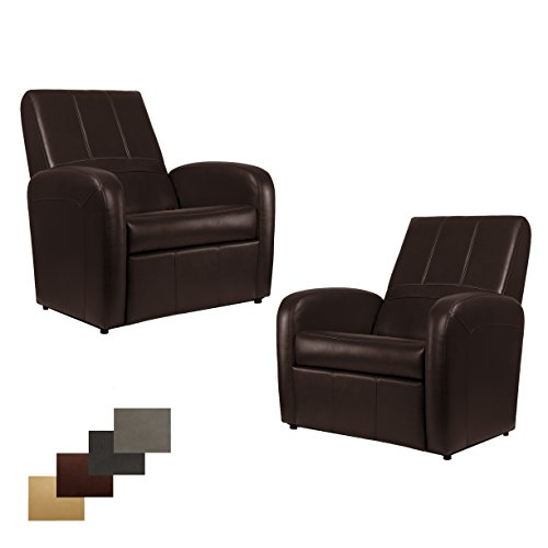 41JPNKZ8E2L - 2 RecPro Charles RV Gaming Chair Ottoman w/ Storage Putty