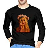 MYaige Christina Aguilera Men's Fashion Long Sleeve Round Neck T Shirts Tops Black L