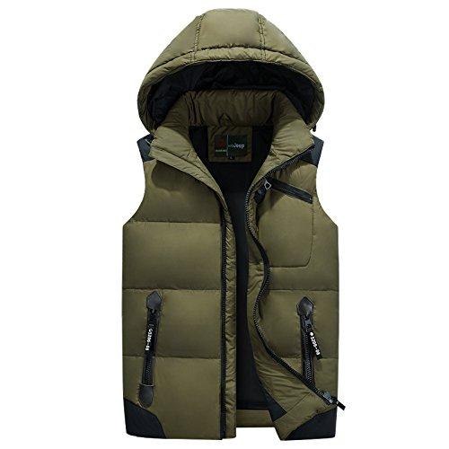 4XL Military vert ZHUDJ Hommes's veste Veste pour Hommes en Plein Air_