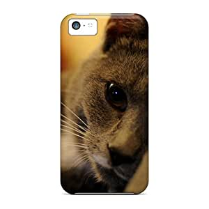 Fashion Protective Cute Eyes Kitty Cases Covers For Iphone 5c