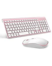 Joyaccess Stylish Compact Full-Size Keyboard and 2400 DPI Stream-line Optical Mouse for PC,Desktop, Computer, Notebook