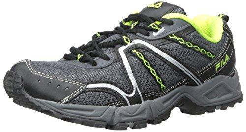 Fila Mens Salita 12 Scarpa Da Trail Running In Peltro / Nero / Giallo Sicurezza