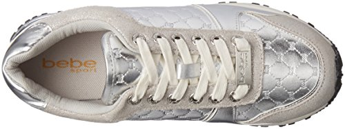 bebe Womens Racer Walking Shoe Silver ytN1EUuQK3