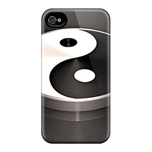 Forever Collectibles Yin Yang Coin Hard Snap-on Iphone 4/4s Case