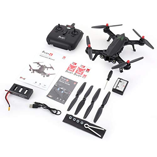 For MJX Bugs 6 B6 2.4GHz 4CH 6 Axis Gyro Pre-assembled RTF Racing Drone High Speed 1806 1800KV Motor Brushless RC Quadcopter Para MJX Bugs 6 B6 2.4GHz 4CH 6 Eje Gyro premontado RTF Racing Drone de alta velocidad 1806 1800KV Motor sin escobillas RC Quadcopter