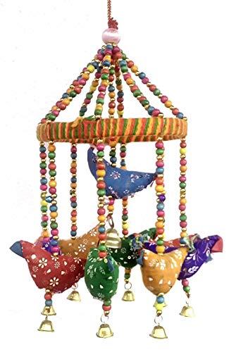 Rastogi Handicrafts Handmade Decorative Door Hanging Bell Bird Shandler for Home Decoration Hanging Ornament]()