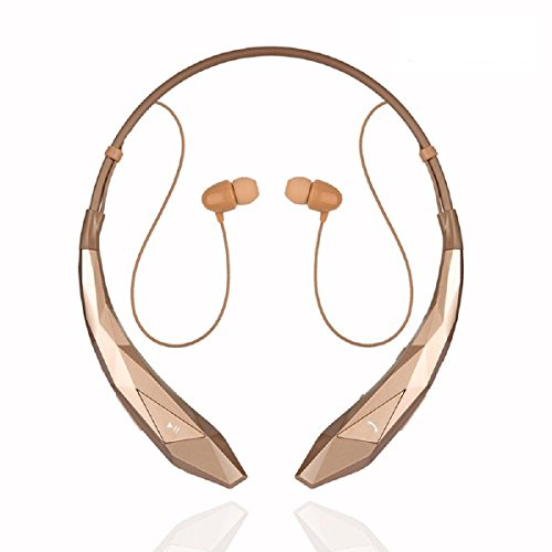 Megadream Neckband Headphone, Wireless Stereo APT-X Noise Cancelling Running Gym Exercise Earphone Headset with Mic for iPhone Xs Xr X 8 Plus 7 6S 6 5S Samsung Galaxy S9 S8 S7 S6 Note 9 8 LG HTC ONE