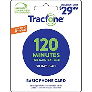 Tracfone 120 Minutes / Units for 90 Days - Tracfone Nationwide Prepaid Wireless Refill Pin (Mail Delivery)