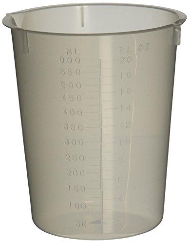 Maryland Plastics L-1270 Polypropylene Disposable Beaker, Graduated, 600 mL (Pack of 25)