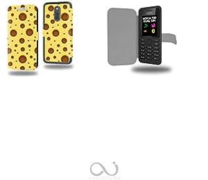 Fromage Collection Pattern Funda de Cuero para Nokia 130 Flip Case Cover (Estuche) PU Cuero - Accesorios Case Industry Protector