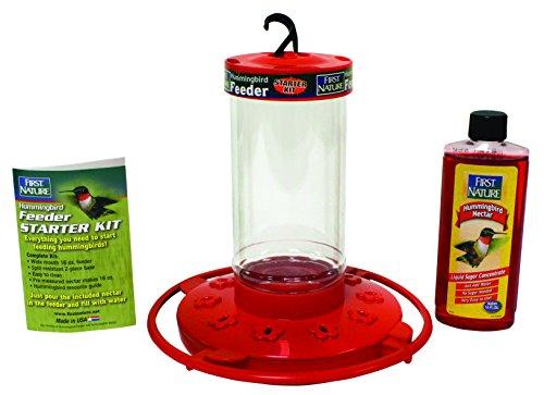 First Nature 3057 16-Ounce Hummingbird Starter Kit (Feeder Kit Hummingbird)