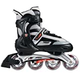 Schwinn Men's Max 1000 Adjustable Inline Skates - Size 8/8.5/9/9.5 - Black/Grey