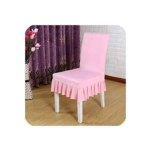1pc Banquet Spandex Stretch Elastic Chair Covers Dining Solid Color Half Skirt Seat Cover for Restaurant Chair Slipcover,Pink,Universal Size (Chair And Half Toronto A)