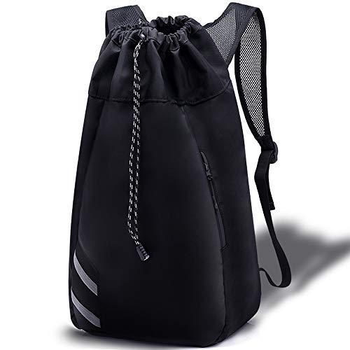 Large Drawstring Backpack - Drawstring Backpack Gym Backpack Travel Bag Daypack, Waterproof Large Polyester Adjustable 22