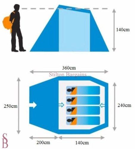 sc 1 st  Amazon UK & Lichfield Ainsdale 4 Man Tent: Amazon.co.uk: Sports u0026 Outdoors