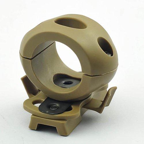 - ATAIRSOFT FMA Single 1'' Flashlight Clamp fit Fast Helmet Side Rail DE TAN