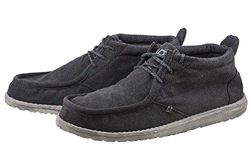 Dude Negro Conrado Negro Arranque Shoes Hola Hombres Lona 5FI7w