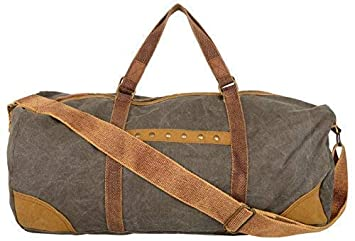 Image Unavailable. Image not available for. Colour  Almolfa Mens Canvas  Browinsh Grey Duffle Travel Bag 76cacc4c3b61b