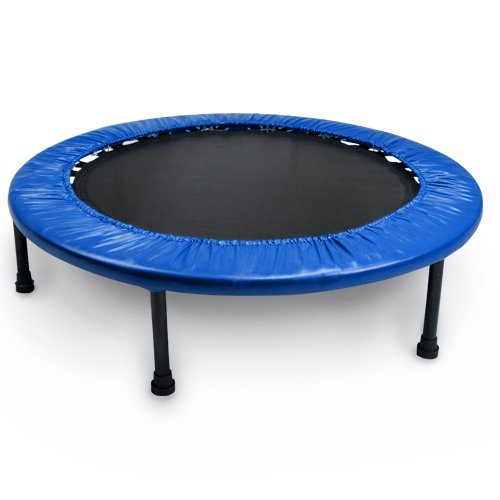 Crown Sporting Goods Mini Rebounder Trampoline, Blue, 38-Inch