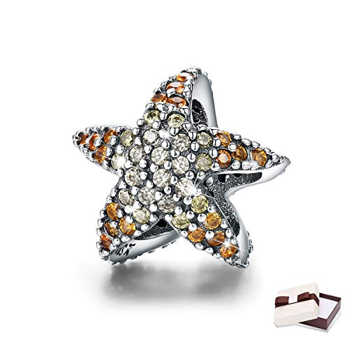 BAMOER 925 Sterling Silver Story of Ocean Starfish Beads Charm fit Original Charm - Sterling Art