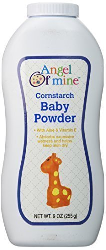 Angel of Mine Cornstarch Baby Powder – 9 Oz. (2 Pack)