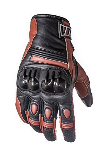 Protect the King Hawkins Premium Leather Motorcycle Sport Biker Gloves (Large) -
