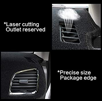 linfei Dashboard Cover Protective Pad For Ford Mondeo Mk5 2014~2019 Car Accessories Dash Board Sunshade Carpet Left All Black