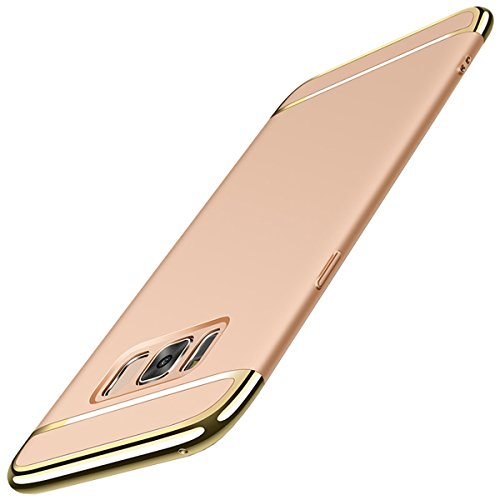 A Trading Samsung Galaxy S8 Case, Shockproof Thin Hard Case Cover For Galaxy S8 (Gold)