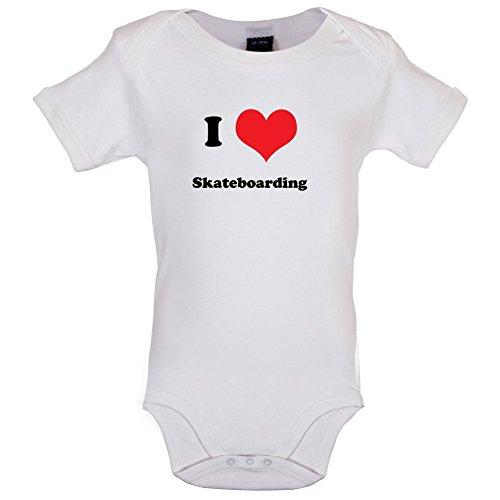 I Love Skateboarding - Lustiger Baby-Body - Weiß - 12 bis 18 Monate