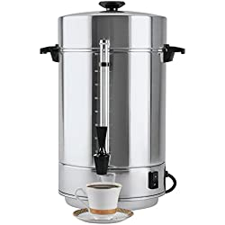 "Focus Foodservice 58001R Aluminum West Bend Coffee Makers, 58000 Series, 100 Cup, 1500 Watts, 120V, 60Hz, 20-3/4"" x 14-5/8"" x 14-1/4"""