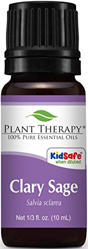 Plant Therapy Clary Sage Essential Oil. 100% Pure, Undiluted, Therapeutic Grade. 10 mL (1/3 Ounce). (Oil Thyme Therapy Plant)
