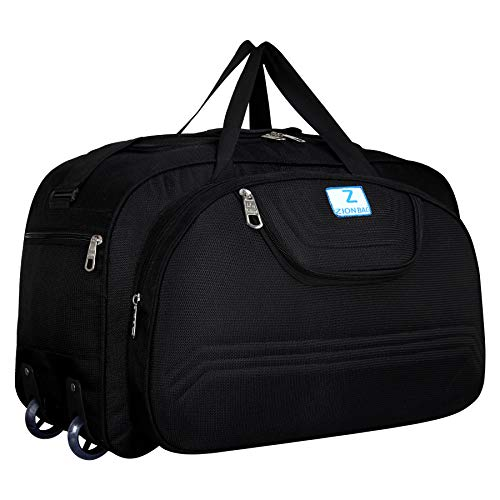 Zion bag Polyester Lightweight 60 L Luggage Black Travel Duffel Bags Black