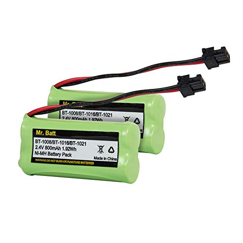 Mr.Batt BT-1021 BBTG0798001 Battery Compatible for Uniden BT-1021 BT-1025 BT1021 BT-1008 BT-1016 Cordless Handset Phone (2 ()