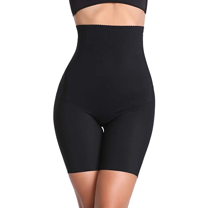 2bd5f1f8a3a25 Tummy Control Shapewear Shorts Women High Waist Body Shaper Thigh Slimmer  Slip Short Panty (Black