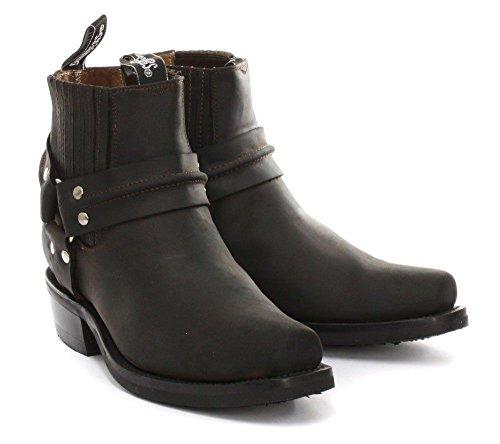 Grinders Renegade Mín Marron para hombre del motorista del estilo del vaquero botas de cuero Tamaños