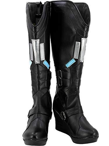 GOTEDDY Women's Natasha Cosplay Boots Halloween Scarlett Black Costume Shoes (9 B M US Female)]()